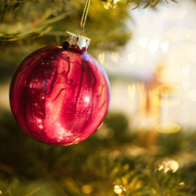 """Christmas Tree Decorations"" stock image"