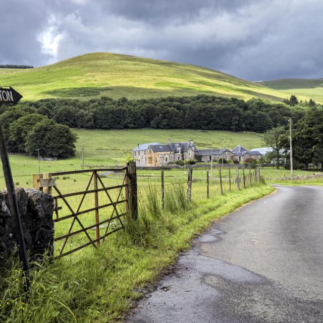 """""""Castleton in Central Scotland"""" stock image"""