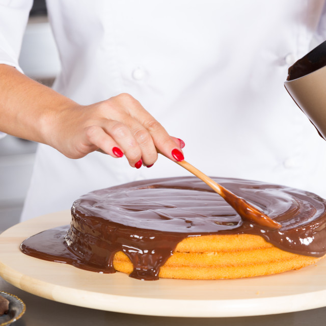 """""""Pastry chef in the kitchen"""" stock image"""