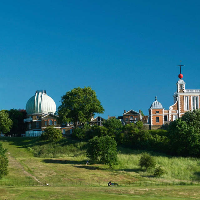 """""""The Royal Observatory, Greenwich, London"""" stock image"""