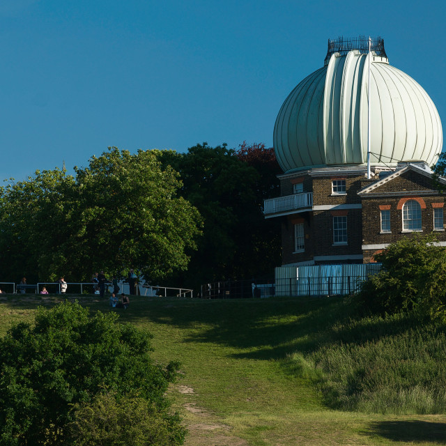 """""""The Royal Observatory and General Wolfe statue, Greenwich, London"""" stock image"""