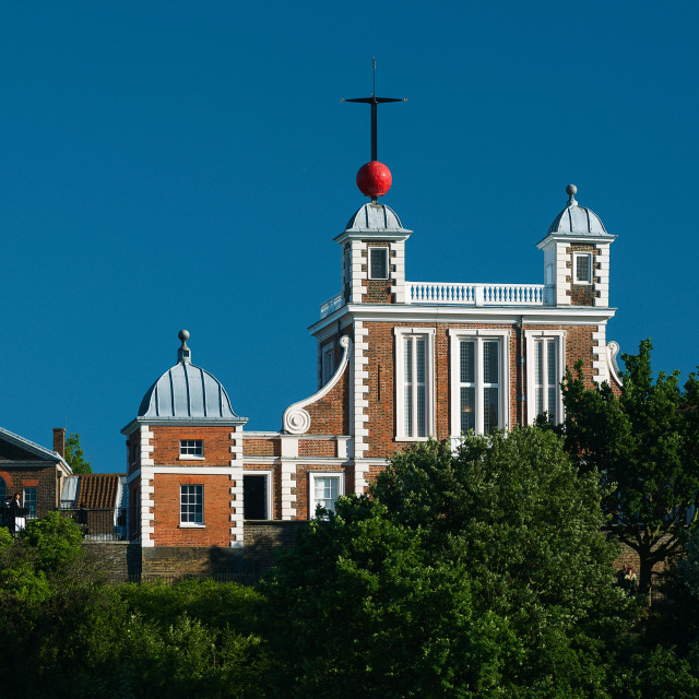 """""""Flamsteed House, The Royal Observatory, Greenwich, London"""" stock image"""