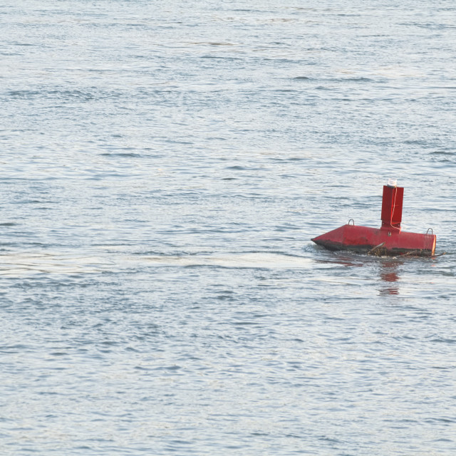 """Buoy in the Danube River"" stock image"