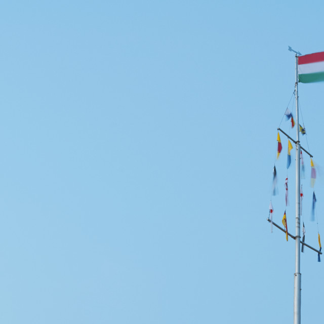 """Hungarian Flag on Flagpole"" stock image"