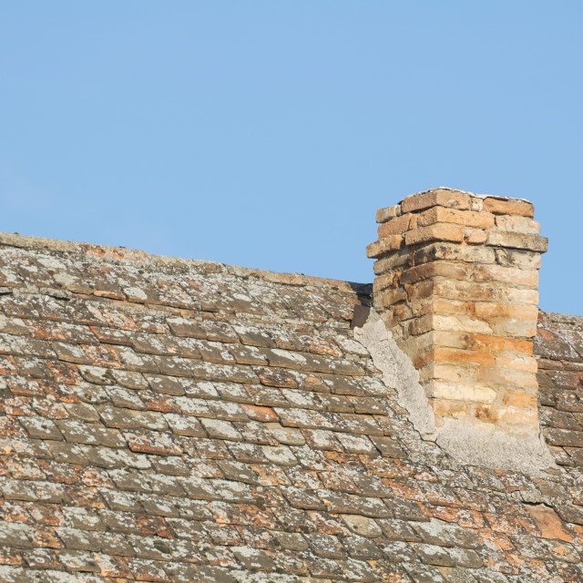 """Chimney on the Rooftop"" stock image"