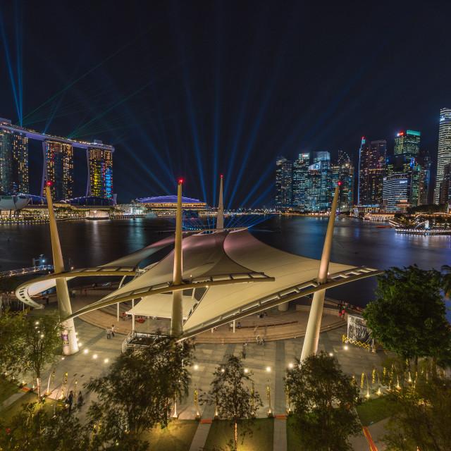 """""""Singapore : Marina Bay"""" stock image"""