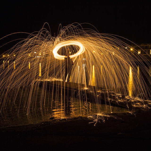 """Wire Wool Spinning"" stock image"