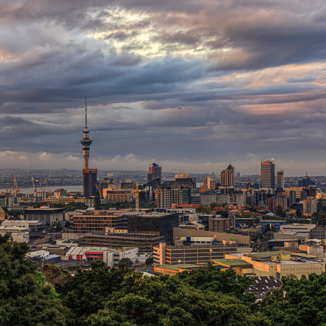 """Auckland Sunset"" stock image"