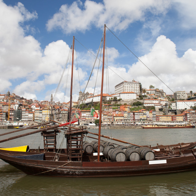 """""""River View of the Old City of Porto in Portugal"""" stock image"""