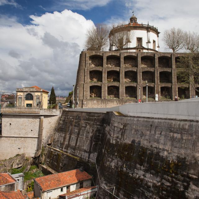 """""""Mosteiro da Serra do Pilar in Porto"""" stock image"""