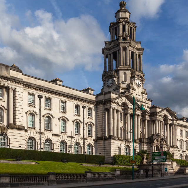 """Stockport Town Hall"" stock image"