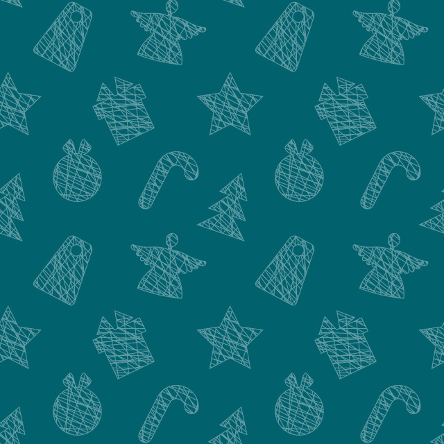 """""""Seamless Wallpaper with Christmas Elements"""" stock image"""