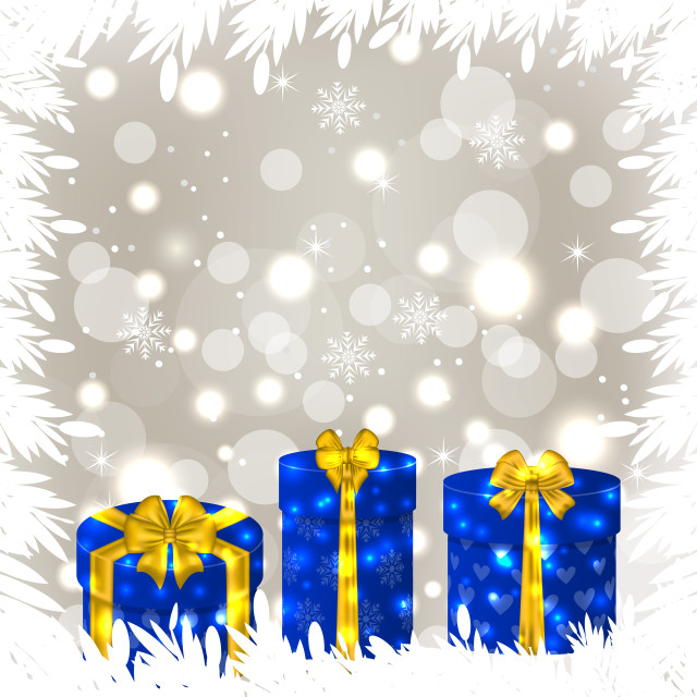 """""""Christmas gift boxes on glowing background"""" stock image"""