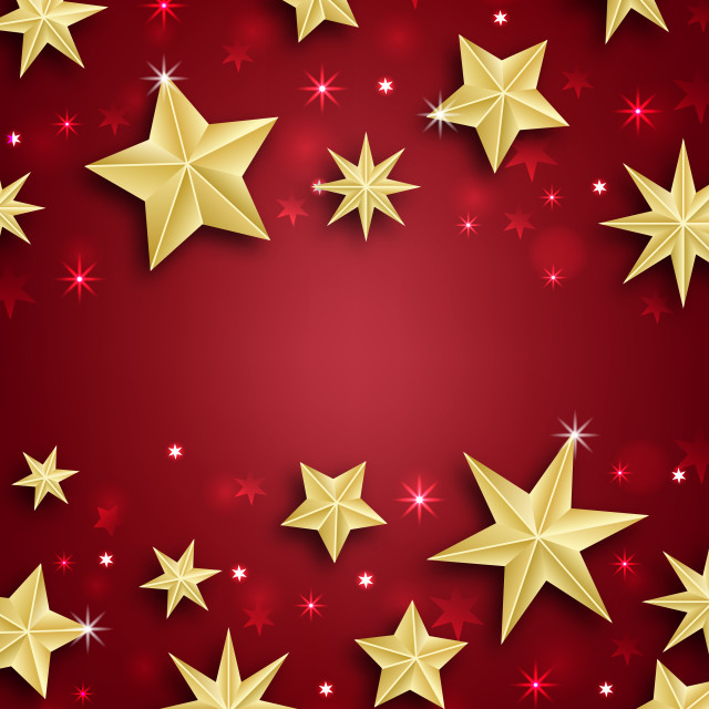 """Starry Border for Merry Christmas and Happy New Year"" stock image"