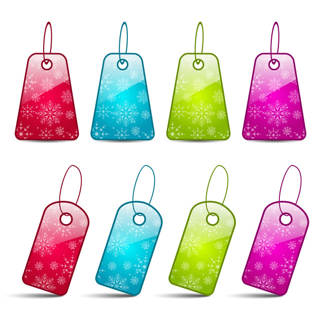 """""""Set multicolored tags isolated on white background"""" stock image"""