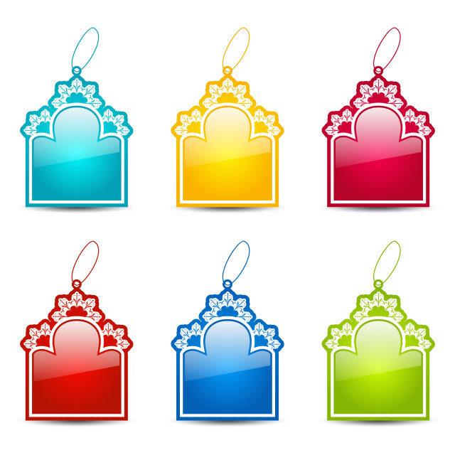 """""""Christmas collection tags isolated on white background"""" stock image"""