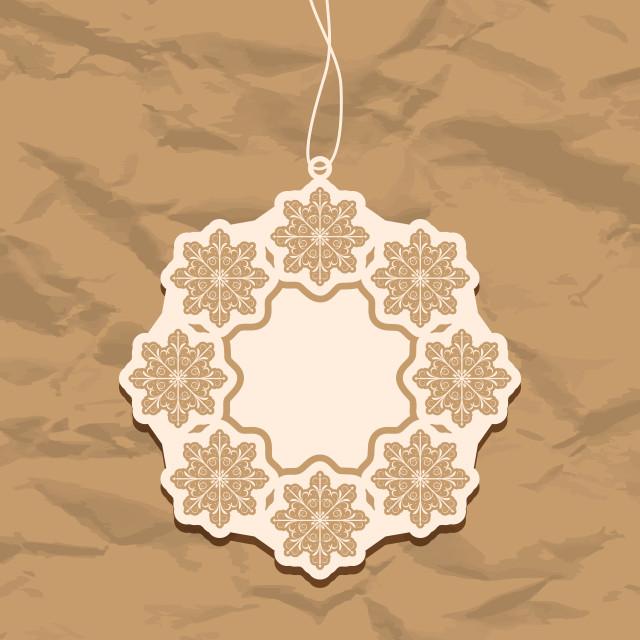 """Christmas blank badge, vintage style"" stock image"