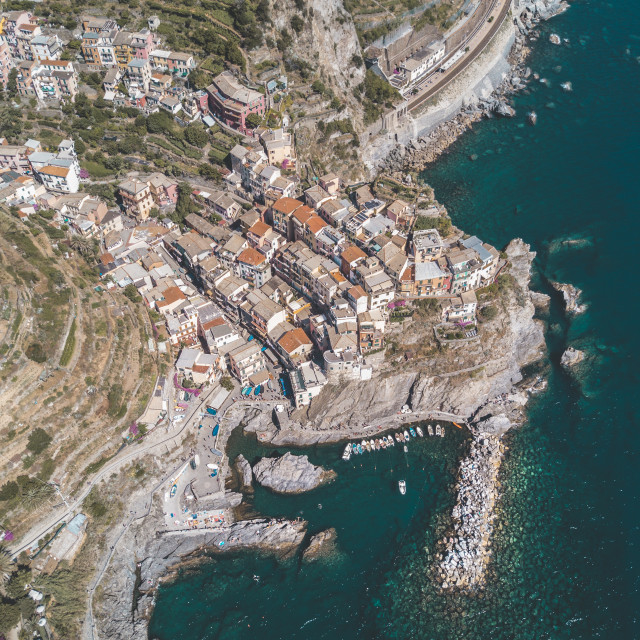 """Cinque Terre, Italy"" stock image"