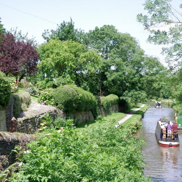 """""""Barge Landscape"""" stock image"""