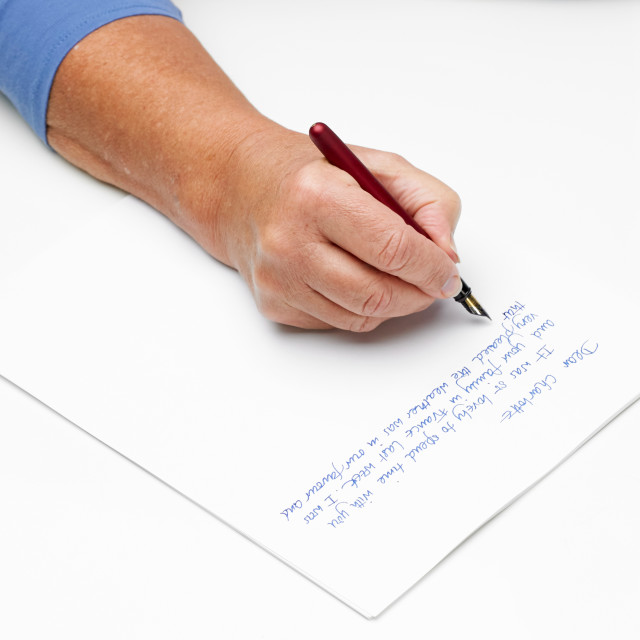 """hand and pen"" stock image"