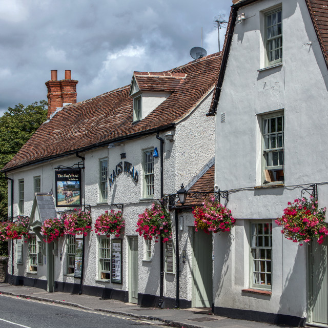 """The Nags Head - Abingdon"" stock image"