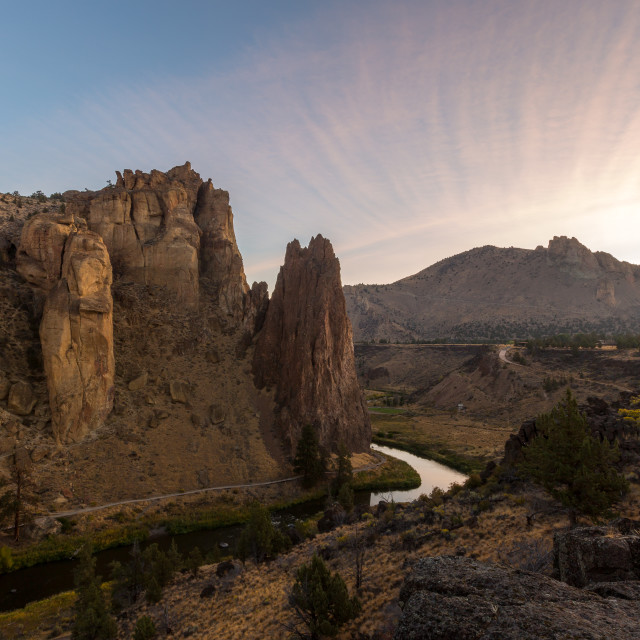 """Smith Rock Sunrise"" stock image"
