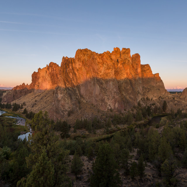 """Smith Rock State Park Sunrise"" stock image"