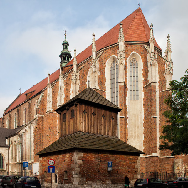 """""""Gothic Church of St. Catherine in Krakow"""" stock image"""