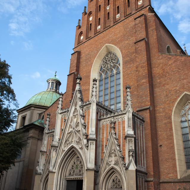 """Church Of The Holy Trinity in Krakow"" stock image"