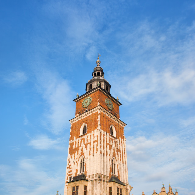 """""""Town Hall Tower in Krakow"""" stock image"""