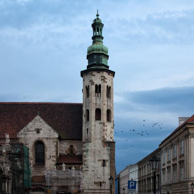 """""""St. Andrew's Church in Krakow at Dusk"""" stock image"""