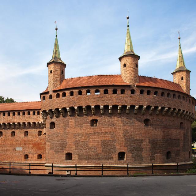 """Barbican in Krakow"" stock image"
