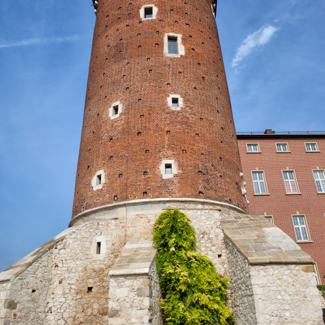 """Sandomierska Tower of Wawel Castle in Krakow"" stock image"