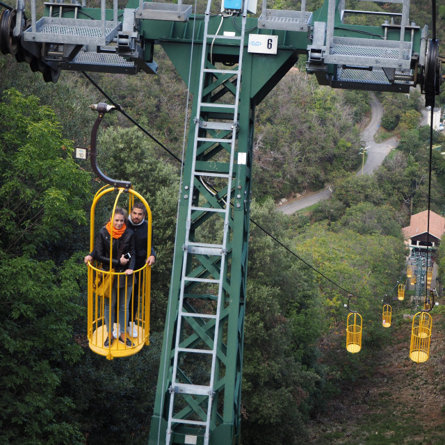 """""""The Monte Capanne cablecar"""" stock image"""
