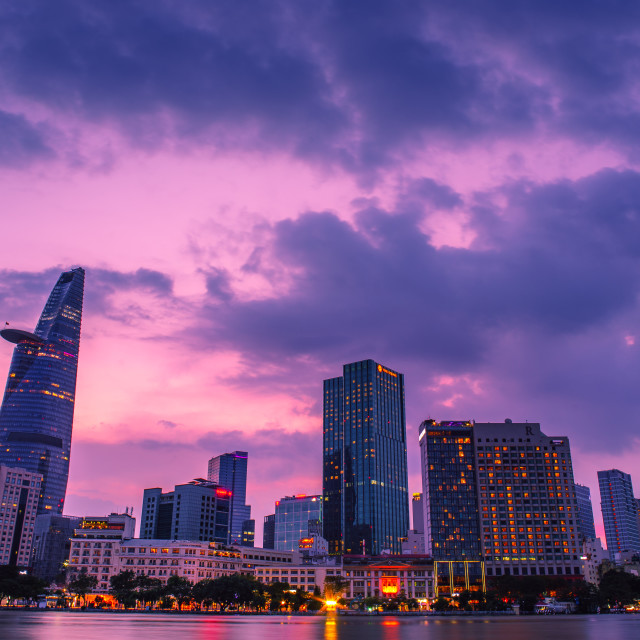 """""""SAIGON HO CHI MINH CITYSCAPE"""" stock image"""