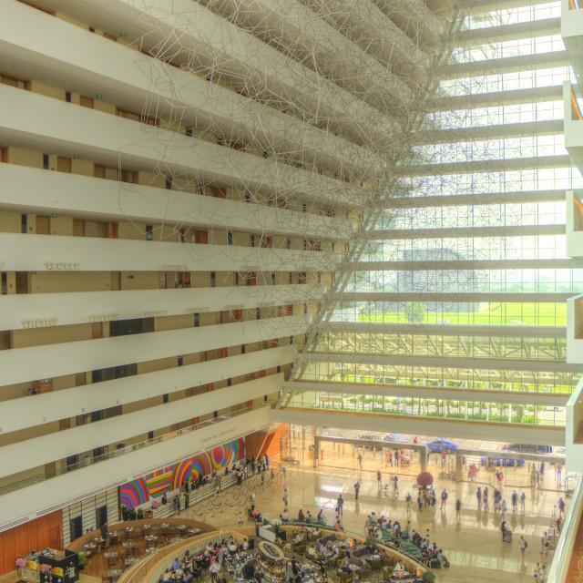 """Interior of Marina Bay Sands Hotel"" stock image"