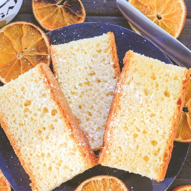 """Bitter Orange Sponge Cake"" stock image"