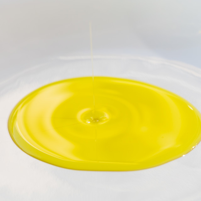 """""""Olive oil on a plate"""" stock image"""