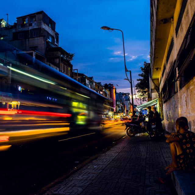 """""""Saigon - Street Life 2017"""" stock image"""