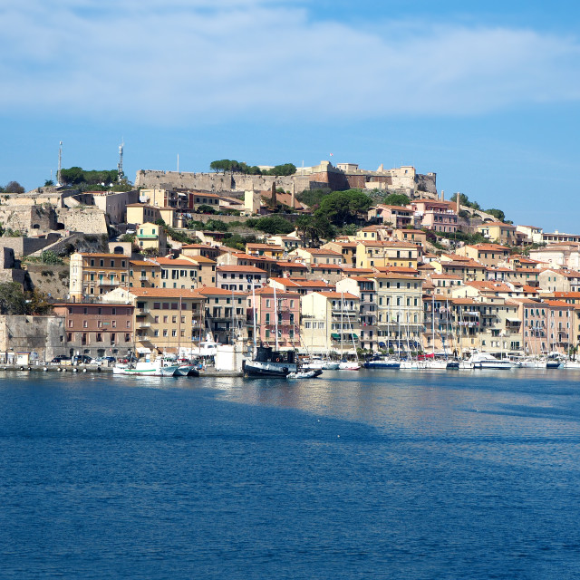 """The town of Portoferraio, Elba, Italy."" stock image"