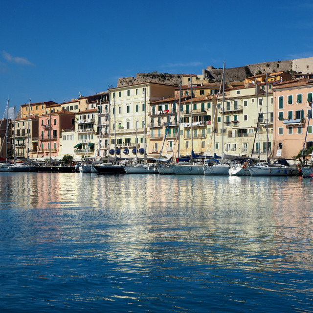"""The marina in Portoferraio"" stock image"