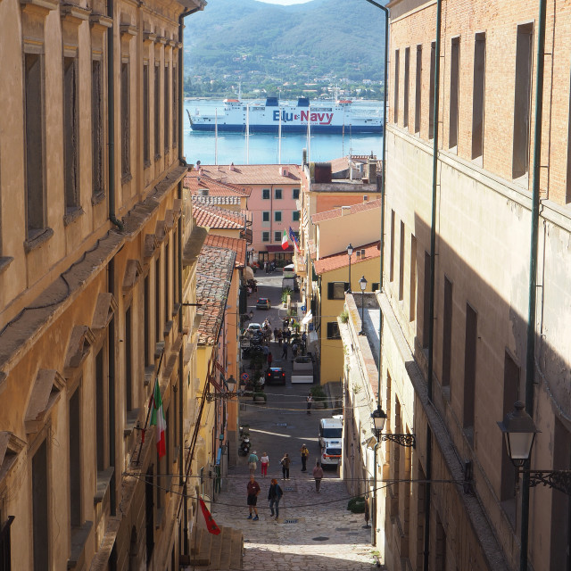 """The town of Portoferraio, Elba, Italy"" stock image"