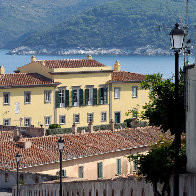 """Napoleon's winter house, Portoferraio, Elba, Italy"" stock image"