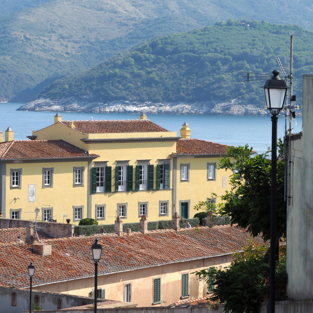 """Napoleon's winter house. Portoferraio, Elba, Italy."" stock image"