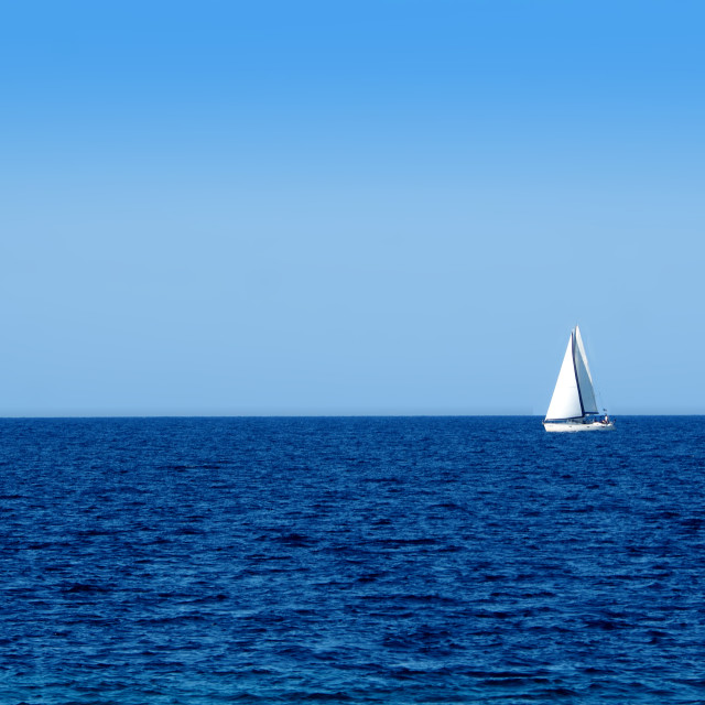 """Sailing in the Tyrrhenian Sea."" stock image"