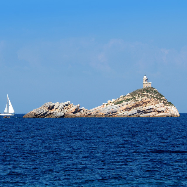 """Sailing in the Tyrrhenian Sea"" stock image"