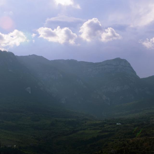 """Crimean Mountains near Gurzuf (Hurzuf)"" stock image"