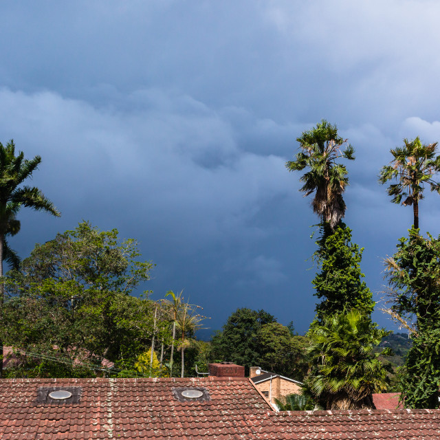 """""""Coming Storm Clouds"""" stock image"""