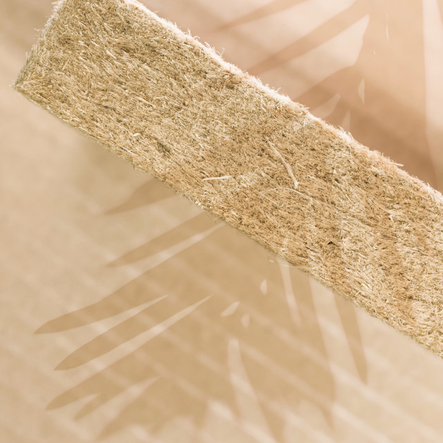 """thermal insulating compressed hemp fiber panel"" stock image"