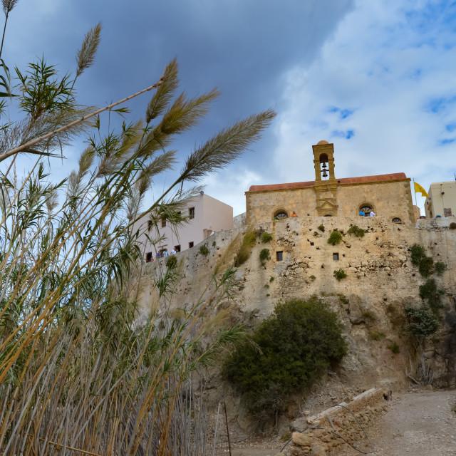 """View of the monastery of Chrisoskalitisa"" stock image"